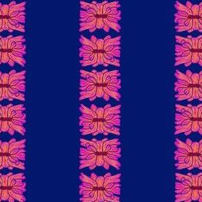 nepali flower stripes magenta