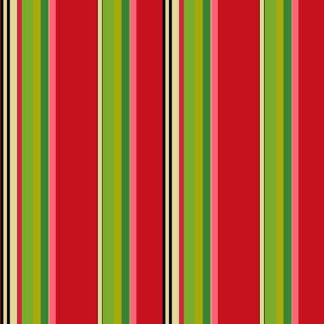 Christmas_Multi_Stripe fabric by kelly_a on Spoonflower - custom fabric