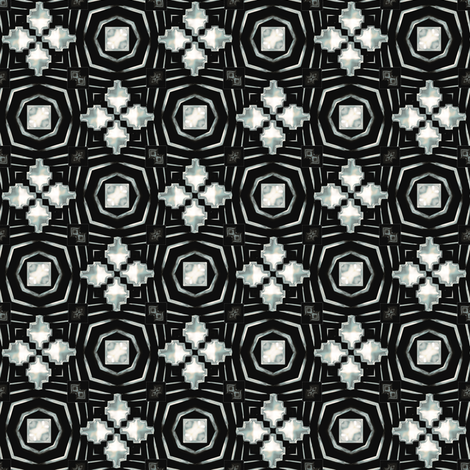 deco geometry fabric by kociara on Spoonflower - custom fabric