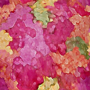 Bright Rose Colored Abstract