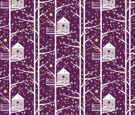 treetop getaway knit fabric by kayajoy on Spoonflower - custom fabric