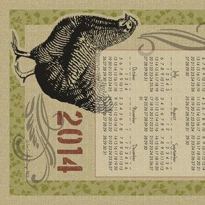 The Country Hen 2014 Calendar