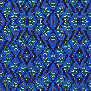 Ikat in blue