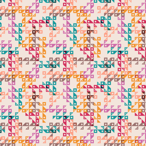Cocktail Geo pinks fabric by modernprintcraft on Spoonflower - custom fabric