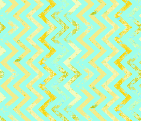 aqua and rust chevron vertical repeat fabric by katarina on Spoonflower - custom fabric