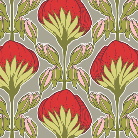Flower Fans classic fabric by modernprintcraft on Spoonflower - custom fabric