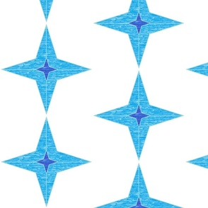Four Pointed Star Blue