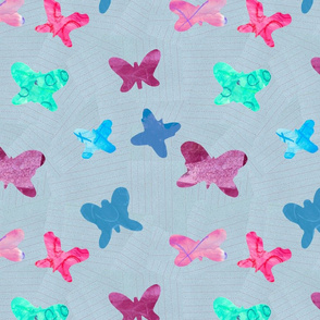 butterfly collage in Violet