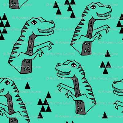dinosaurs // dino green kids baby boys dinosaurs