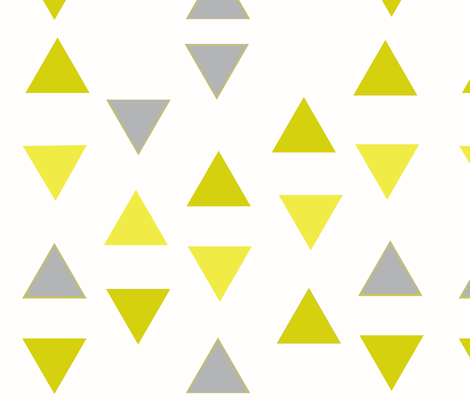 Triangle Tango in Mustard and Gray fabric by dandylion_&_co on Spoonflower - custom fabric