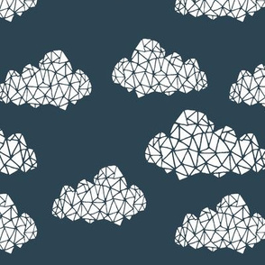 Geometric Cloud - Parisian Blue