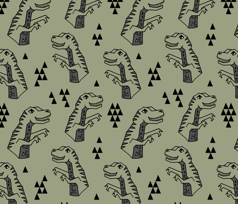 Dinosaur - Artichoke by Andrea Lauren fabric by andrea_lauren on Spoonflower - custom fabric