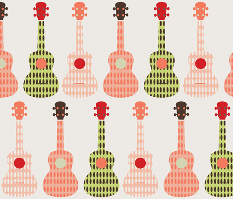ukulele 9 fabric by owlandchickadee on Spoonflower - custom fabric