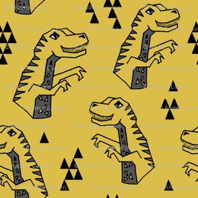 Dinosaur - Mustard by Andrea Lauren