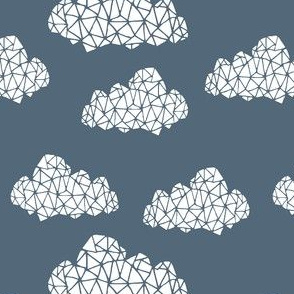 cloud // geometric clouds cloud fabric geo fabric blueish grey
