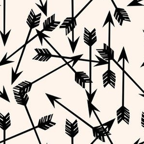 arrows scattered // small version tribal scattered southwest black and champagne minimal print