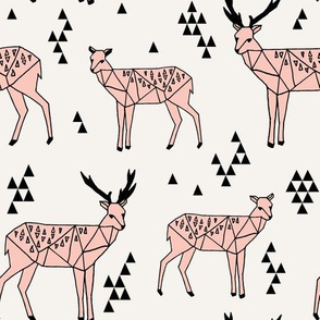 Geo Deer - Light Pink by Andrea Lauren