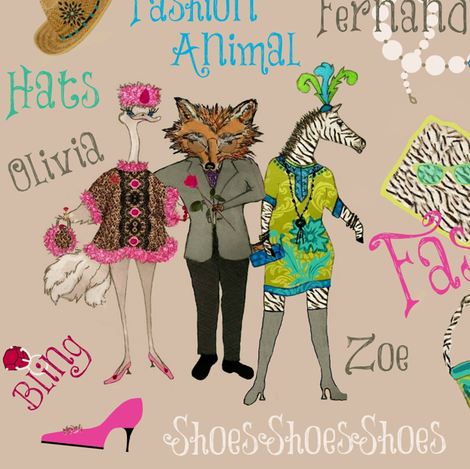 r. u. a. Fashion Animal fabric by paragonstudios on Spoonflower - custom fabric