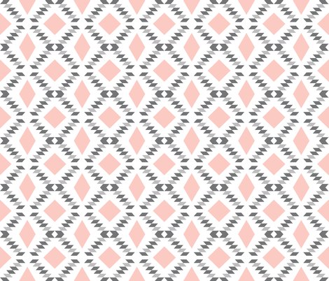 pink charcoal diamond fall fabric by eivie&co on Spoonflower - custom fabric