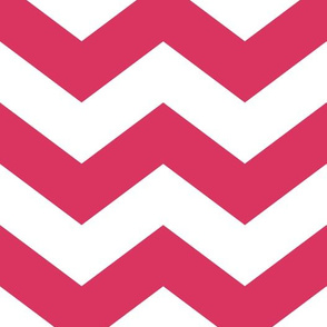 Raspberry Zinnia Chevron