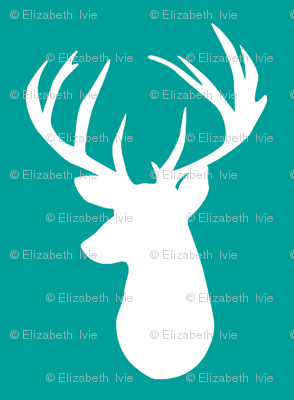 emerald deer head