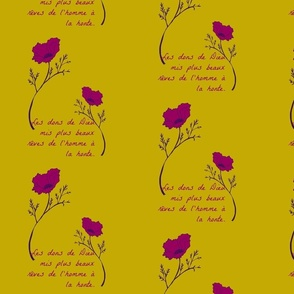 poppy magenta and mustard
