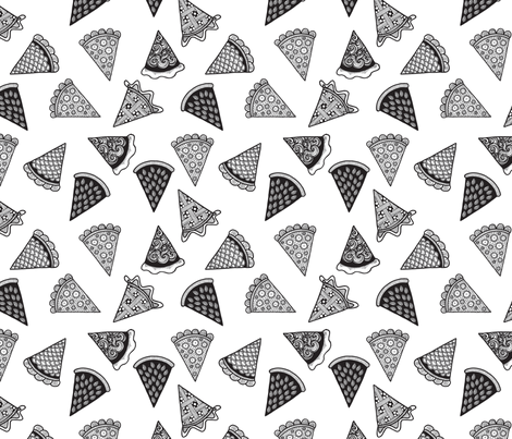 I Love Pie fabric by nikijin on Spoonflower - custom fabric