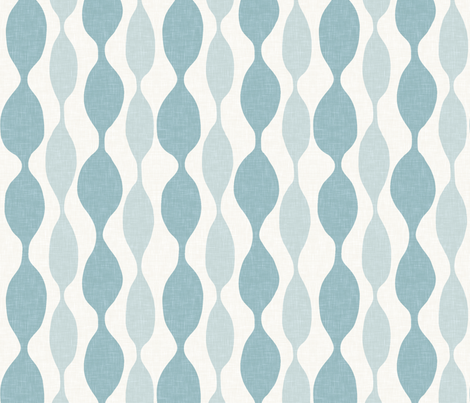 Beaded Stripe in Spa Linen fabric by sparrowsong on Spoonflower - custom fabric