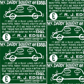My Daddy Bought an Edsel ad (green)