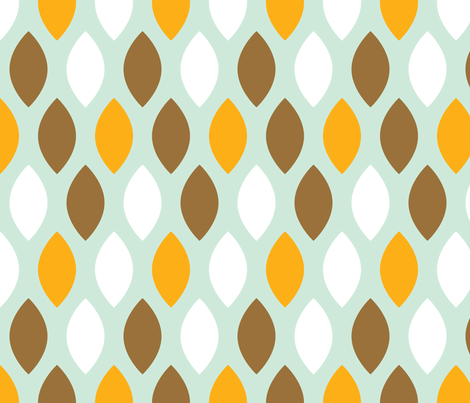 Brown and orange leaves fabric by origamizoo on Spoonflower - custom fabric