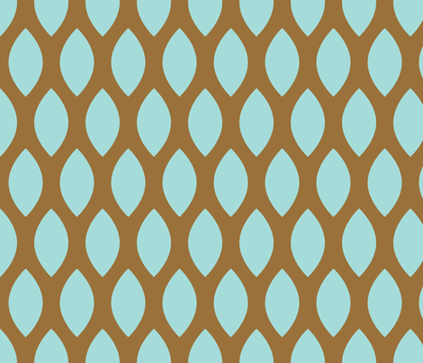 Mint leaves fabric by origamizoo on Spoonflower - custom fabric