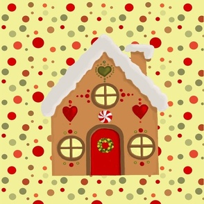 Gingerbread house Teatowel