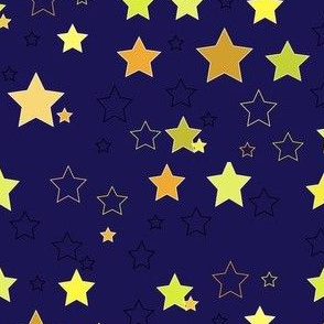 ombre night sky