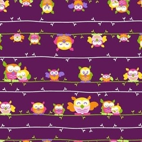 OWL FAMILY TREE - PLUM