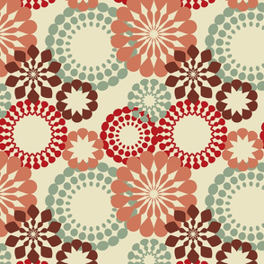 Red retro pattern