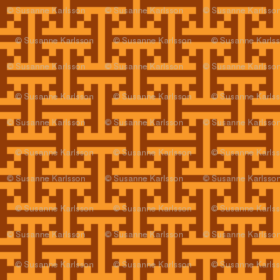geometric orange pattern
