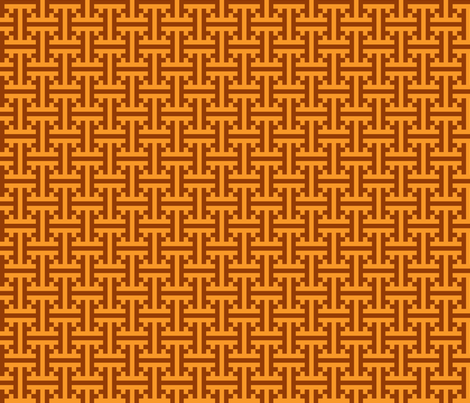 geometric orange pattern fabric by suziedesign on Spoonflower - custom fabric