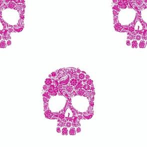 dia de los muertos hot pink