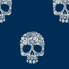 dia de los muertos invert navy blue