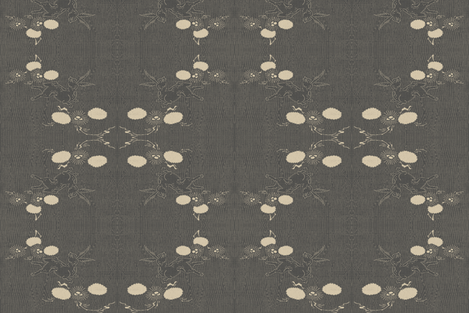 Woodland Hare - black and tan with woodgrain  fabric by materialsgirl on Spoonflower - custom fabric