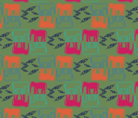 indiansummer_elephantes_nightparty-03 fabric by luhaddad on Spoonflower - custom fabric
