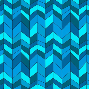 blue herringbone