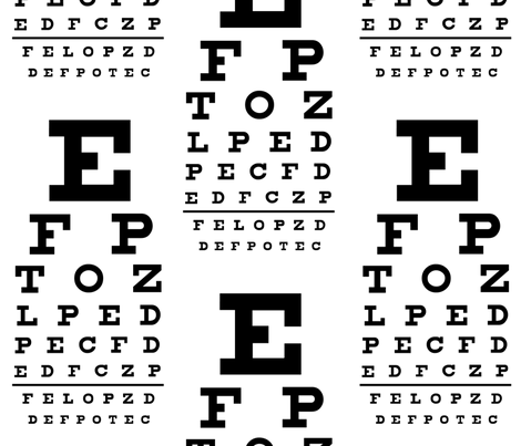 Standard Vision Chart in Black and White fabric by weavingmajor on Spoonflower - custom fabric