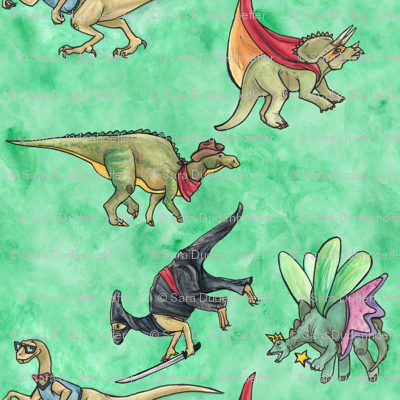 Dinos In Costume