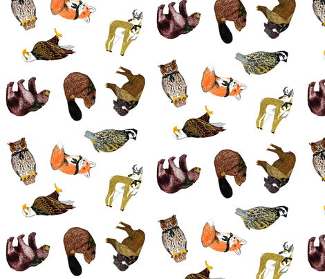 Good Ol' Critters Large fabric by evenspor on Spoonflower - custom fabric
