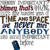 Doctor Who Hand Lettered Quote