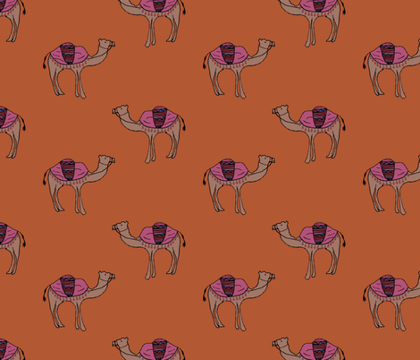 Camels fabric by abbyg on Spoonflower - custom fabric