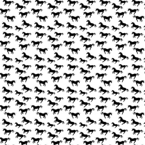 Unicorn Stampede in Black and White