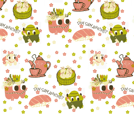 Dim Sum Anyone? fabric by charldia on Spoonflower - custom fabric
