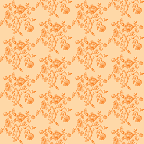 Caslon Rose Gold fabric by amyvail on Spoonflower - custom fabric